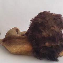 """Vintage Steiff Lion, """"Leo"""", Stuffed Animal"""