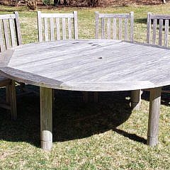 14-4209 Teak Table Chairs A