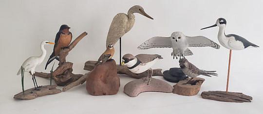 141-4962 8 Bird Decoys A