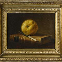 15-4208 G Pierre Beauregard Still Life of Apple, Knife and Book A_MG_9996