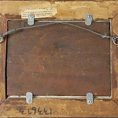 "G. Pierre Beauregard Oil on Wood Panel ""Still Life of Apple, Knife and Book"""