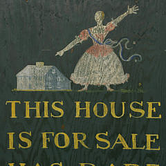 """Sign """"This House Is For Sale Has Rare Antique Charm – Ask Any Member of the Monnohanit"""""""