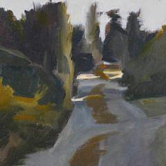 """Sandra Flavin Oil on Canvas """"Tautemo Road Sunset"""""""