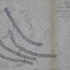 Preliminary Chart of Nantucket Shoals together with Tidal Currents of Nantucket Shoals, 1854