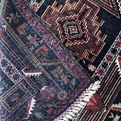 Caucasian Hand Knotted Wool Prayer Rug