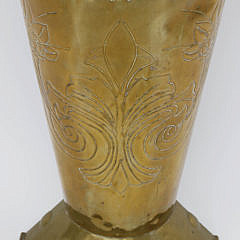 North European Brass Umbrella Stand, late 19th Century