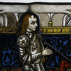 In the Style Late Medieval Stained Glass Panel