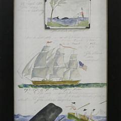 Group of Four Kolene Spicher Folk Art Limited Edition Whaling Lithographs