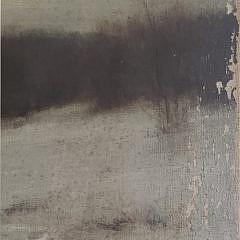 """Frederick V Baker Antique Oil on Canvas, """"Solitude"""", Landscape Painting"""