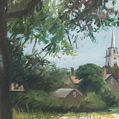 "Paul Longnecker Oil on Canvas, ""Lily Pond"", Nantucket"