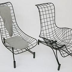 2-4964 Pair Vladimir Kagan Recliner Lounge Chairs A_MG_9910
