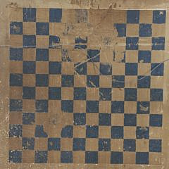 Antique Two Sided Painted Gameboard