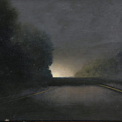 """Oil on Wood Panel """"Driving Back from Buffalo"""""""