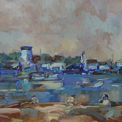"""David Lazarus Oil on Canvas """"From Children's Beach"""""""