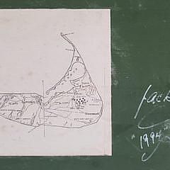 Jack De Rosa Carved Wood Nantucket Sankaty Lighthouse Trade Sign