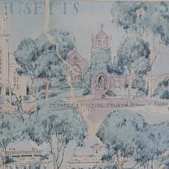 "Ruth Haviland Sutton ""350th Anniversary of Nantucket"" Lithograph"