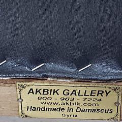 Akbik Gallery Levantine Mother of Pearl Inlaid Walnut Armchair
