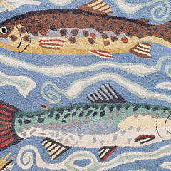 Claire Murray Trout Fish Hooked Rug Runner