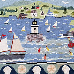 Claire Murray Nantucket Harbor Hooked Rug Carpet