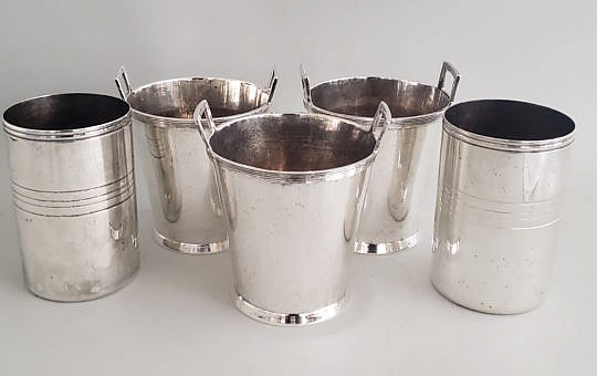2432-955 Christoffle Silver Plate Buckets A