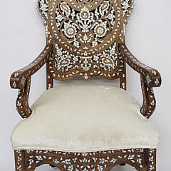2435-955 Mother of Pearl Inlay Chair A