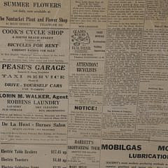 Framed Copy of the Inquirer and Mirror July 13, 1946