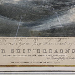 N. Currier and Ives Lithograph of the Clipper Ship Dreadnought off Sandy Hook, 1854
