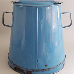 Vintage French Blue Enameled Kitchen Cooking Apparatus
