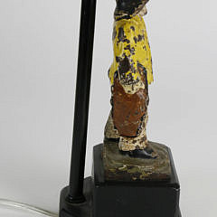 Cast Iron Old Salt Doorstop Mounted as a Lamp
