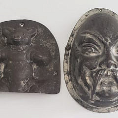 Five 19th Century Tin Chocolate Molds