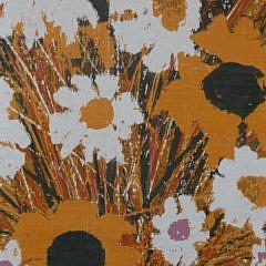 """Robert, """"Bobby"""" Bushong Silkscreen on Fabric Scroll Still Life"""