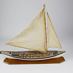 Cased Model of a Whaling Longboat