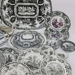 Assorted Collection of English Black and White Transferware