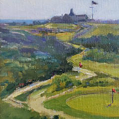 "Marilyn Chamberlain Oil on Canvas, ""Sankaty Golf Course"", Nantucket"