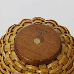 Paul Willer Nantucket Lightship Basket Bud Vase