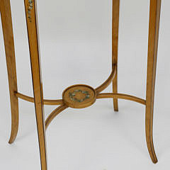 Adams Style Decorated Music Parlor Side Stand, circa 1910