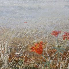 "Sarah Perry Crane Oil on Artist Board ""Wood Lilies at Sanford Farm"""