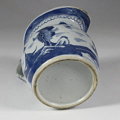 Canton Blue and White Pitcher, mid 19th Century