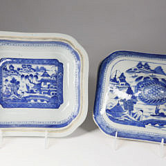Canton Oblong Covered Vegetable Dish, mid-19th century