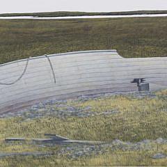 "Richard Sparre Tempera on Panel ""On The Marsh"""