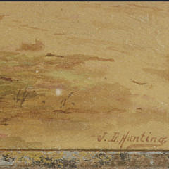 """J.D. Hunting Watercolor on Paper """"Nantucket Sunset"""""""