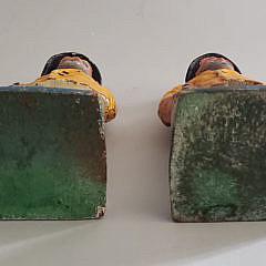 Two Vintage Cast Iron Old Salt Fisherman Doorstop Bookends
