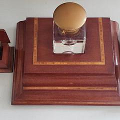 Vintage Five Piece Inlaid Desk Set