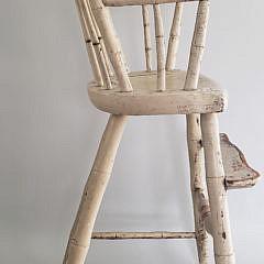 Bride's Child's Windsor High Chair, circa 1810