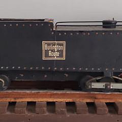 Chicago Burlington and Quincy Railroad Locomotive Chute Car Train Model