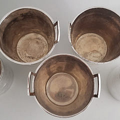 Five Christofle and Ralph Lauren Silver Plated Ice Buckets and Chillers