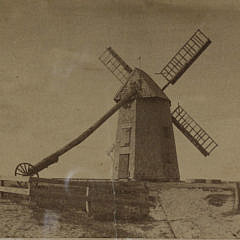 H.S. Wyer Amber Photograph of the Old Mill