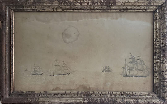 85-4800 Ships Pencil Drawing A