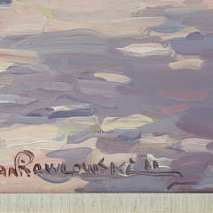 """Jan Pawlowski Oil on Canvas """"Main Street, Nantucket"""""""