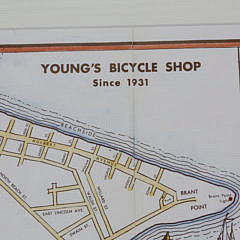 Vintage Young's Bicycle Map